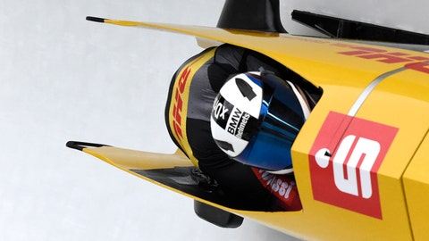 <p>               Germany's Francesco Friedrich and Thorsten Margis compete during the two-man bobsled competition at the Bobsleigh and Skeleton World Championships in Altenberg, Germany, Sunday, Feb. 23, 2020. (AP Photo/Jens Meyer)             </p>