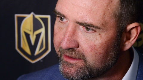 <p>               Vegas Golden Knights new head coach Peter DeBoer talks to media after defeating the Ottawa Senators 4-2 in an NHL hockey game, Thursday, Jan. 16, 2020 in Ottawa, Ontario. (Sean Kilpatrick/The Canadian Press via AP)             </p>