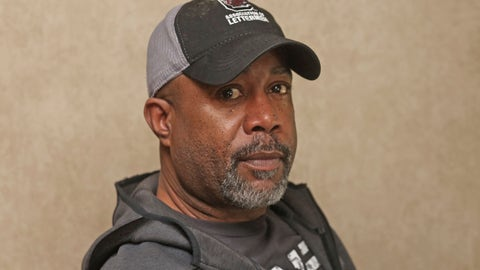 <p>               Darius Rucker poses for a photo before taking the stage. Sunday, Feb. 2, 2020 in Miami. Rucker and his band played the On Location Experiences' pregame tailgate party before Super Bowl LIV. (AP Photo/John Carucci)             </p>