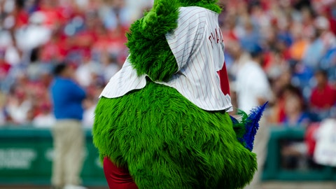 <p>               FILE - In this Aug. 17, 2019, file photo, the Philadelphia Phillies' mascot, the Phillie Phanatic, performs before a baseball game against the San Diego Padres in Philadelphia. The Phanatic has a new look amid a legal fight with the long-running mascot's creators, but officials say you should not expect his famous attitude to go anywhere. (AP Photo/Matt Rourke, File)             </p>