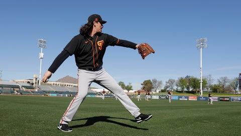 <p>               San Francisco Giants' Jeff Samardzija throws during spring training baseball practice, Friday, Feb. 14, 2020, in Scottsdale, Ariz. (AP Photo/Darron Cummings)             </p>