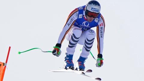 <p>               Germany's Thomas Dressen speeds down the slope during an alpine ski, men's World Cup downhill, in Saalbach, Austria, Thursday, Feb. 13, 2020. (AP Photo/Giovanni Auletta)             </p>