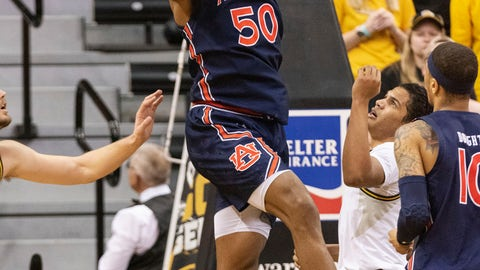 <p>               Auburn's Austin Wiley pulls down a rebound during the first half of the team's NCAA college basketball game against Missouri on Saturday, Feb. 15, 2020, in Columbia, Mo. (AP Photo/L.G. Patterson)             </p>