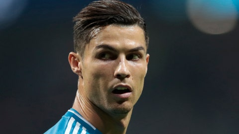 <p>               FILE - In this Sept. 18, 2019, file photo, Juventus' Cristiano Ronaldo looks back during the Champions League Group D soccer match between Atletico Madrid and Juventus at the Wanda Metropolitano stadium in Madrid, Spain. A U.S. judge says Ronaldo's legal fight against a Nevada woman seeking more than the $375,000 rape case hush-money settlement she received from him in 2010 belongs before an arbitrator, not in a courtroom, Tuesday, Feb. 4, 2020. (AP Photo/Bernat Armangue, File)             </p>
