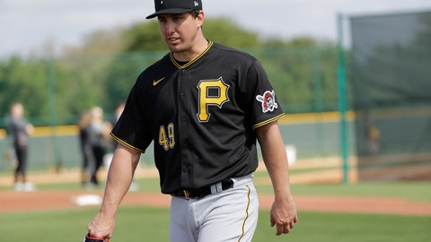 <p>               FILE - In this Feb. 17, 2020, file photo, Pittsburgh Pirates' Derek Holland is shown during a spring training baseball workout in Bradenton, Fla. Holland is one of several older players trying to hang on with teams that don't figure to be contenders in 2020. (AP Photo/Frank Franklin II, File)             </p>