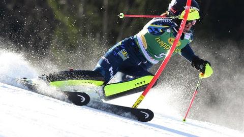 <p>               /Sweden's Anna Swenn Larsson speeds down the course during an alpine ski, women's World Cup slalom in Kranjska Gora, Slovenia, Sunday, Feb. 16, 2020. (AP Photo/Pier Marco Tacca)             </p>