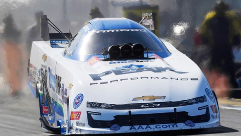 <p>               In this photo Oct. 19, 2019, file photo, provided by the NHRA, John Force drives in Funny Car during qualifying for the AAA Texas NHRA Fall Nationals drag races in Ennis, Texas. More than a half century after he began piloting dragsters, Force, 70, will be in his Funny Car this weekend for the start of a new season in Pomona, Calif. (Jerry Foss/NHRA via AP, File)             </p>