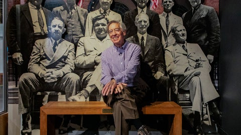 <p>               In this image provided by National Baseball Hall of Fame and Museum, Ted Simmons poses during a tour the Hall of Fame, Thursday Feb. 27, 2020, in Cooperstown, N.Y.  Simmons, a catcher who played for the Cardinals, Brewers and Braves for 21 seasons, was elected to the Hall of Fame by the Modern Baseball Era Committee as part of the Class of 2020. He will be inducted in July. (Milo Stewart, Jr./National Baseball Hall of Fame and Museum via AP)             </p>
