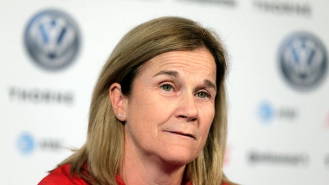 <p>               FILE - In this Friday, May 24, 2019 file photo, Jill Ellis, coach of the United States women's national soccer team, speaks to reporters during a news conference in New York. Newly hired American men's soccer coach Gregg Berhalter earned nearly as much from the U.S. Soccer Federation in the fiscal year ending last March 31 as women's counterpart Jill Ellis. Ellis, who took over as women's coach in May 2014, had compensation of $390,409 in the fiscal year. She went on to lead the Americans to their second straight World Cup title, was voted FIFA Women's Coach of the Year, then left in October. Any bonus she earned as a result of the title likely will be listed on the next year's tax return. (AP Photo/Seth Wenig, File)             </p>