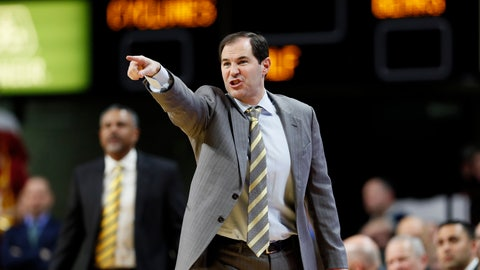 <p>               Baylor coach Scott Drew gestures during the first half of the team's NCAA college basketball game against Iowa State, Wednesday, Jan. 29, 2020, in Ames, Iowa. (AP Photo/Charlie Neibergall)             </p>