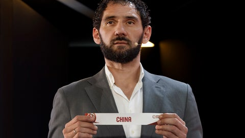 <p>               FILE - In this Wednesday, Nov. 27, 2019 file photo, Jorge Garbajosa, Spanish Basketball Federation President and former basketball player, shows a ticket of the China national basketball team, during the FIBA Olympic Qualifying Tournaments 2020 draw, at the headquarters of the FIBA (International Basketball Federation), in Mies, Switzerland. A former NBA player who got into basketball because it was the only sport with shoes big enough for him has been leading Spain to its most successful era in the sport. (Salvatore Di Nolfi/Keystone via AP, File)             </p>