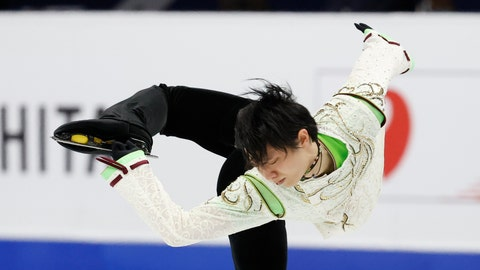 <p>               Japan's Yuzuru Hanyu performs during the men's single free skating competition in the ISU Four Continents Figure Skating Championships in Seoul, South Korea, Sunday, Feb. 9, 2020. (AP Photo/Lee Jin-man)             </p>