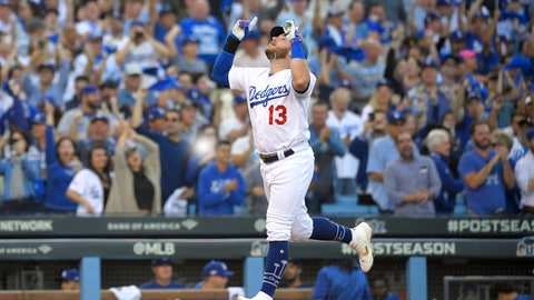 <p>               FILE- In this Oct. 9, 2019, file photo, Los Angeles Dodgers' Max Muncy celebrates his two-run home run against the Washington Nationals during the first inning in Game 5 of a baseball National League Division Series in Los Angeles. Muncy and the Dodgers agreed to a $26 million, three-year contract Thursday, Feb. 6, 2020, and avoided salary arbitration. (AP Photo/Mark J. Terrill, File)             </p>