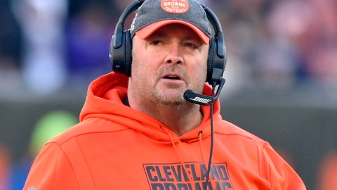 <p>               FILE - In this Dec. 22, 2019, file photo, Cleveland Browns head coach Freddie Kitchens walks on the field during the fourth quarter of an NFL football game against the Baltimore Ravens in Cleveland. Recently fired Cleveland Browns coach Freddie Kitchens has been hired as the New York Giants tight end coach on Wednesday, Feb. 5, 2020. (AP Photo/David Richard, File)             </p>