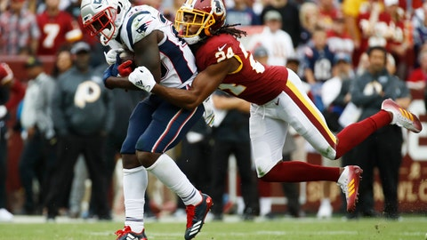 <p>               FILE - In this Oct. 6, 2019, file photo, Washington Redskins cornerback Josh Norman (24) tackles New England Patriots running back Sony Michel (26) during the second half of an NFL football game in Landover, Md. The Redskins have released Norman and wide receiver Paul Richardson. Norman struggled to live up to the $75 million, five-year contract he signed in 2016 after an All-Pro season in Carolina. He was let go with one year left on that deal. Norman's release and $12.5 million salary-cap savings could pave the way for Washington to give cornerback Quinton Dunbar a raise. Richardson's release doesn't save as much. (AP Photo/Patrick Semansky, File)             </p>