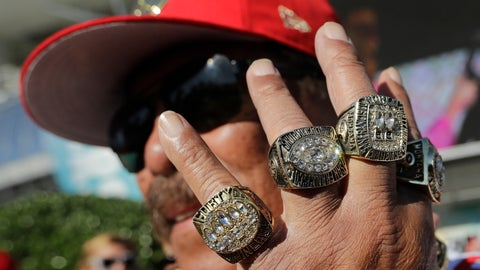 <p>               San Francisco 49ers fan John Tonga poses for a photo before the NFL Super Bowl 54 football game between the San Francisco 49ers and Kansas City Chiefs Sunday, Feb. 2, 2020, in Miami Gardens, Fla. (AP Photo/Lynne Sladky)             </p>