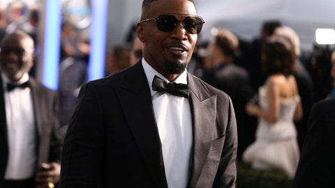 <p>               Jamie Foxx arrives at the 26th annual Screen Actors Guild Awards at the Shrine Auditorium & Expo Hall on Sunday, Jan. 19, 2020, in Los Angeles. (Photo by Matt Sayles/Invision/AP)             </p>