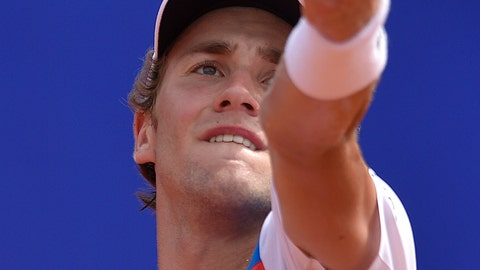 <p>               Casper Ruud of Norway serves to Pedro Sousa of Portugal during the ATP Argentina Open final match in Buenos Aires, Argentina, Sunday, Feb. 16, 2020. (AP Photo/Gustavo Garello)             </p>