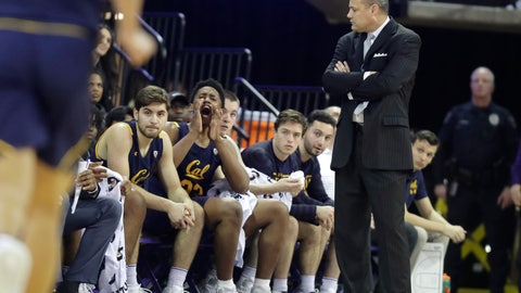 <p>               California coach Mark Fox, right, looks toward the bench during the first half of the team's NCAA college basketball game against Washington, Saturday, Feb. 22, 2020, in Seattle. (AP Photo/Ted S. Warren)             </p>