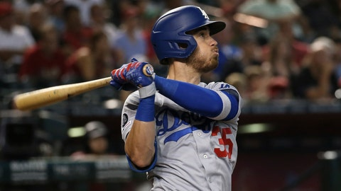 <p>               FILE - In this Sept. 1, 2019, file photo, Los Angeles Dodgers' Cody Bellinger watches the flight of his home run against the Arizona Diamondbacks during the ninth inning of a baseball game in Phoenix. In what's become a familiar refrain, the Dodgers arrive at camp still looking for their first World Series championship since 1988. After losing in two straight World Series, they were ousted by Washington in five games in the NL Division Series last fall. (AP Photo/Ross D. Franklin, File)             </p>