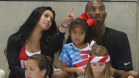 <p>               FILE - In this Aug. 4, 2012 file photo Kobe Bryant with his wife Vanessa and daughter Gianna prepare to watch the final night of swimming at the Aquatics Centre in the Olympic Park during the 2012 Summer Olympics in London. Vanessa Bryant expressed grief and anger in an Instagram post Monday, Feb. 10, 2020, as she copes with the deaths of her husband Kobe Bryant, their daughter Gigi and seven other people in a helicopter crash last month. (AP Photo/Mark J. Terrill,File)             </p>