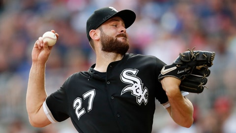 <p>               FILE - In this Sept. 1, 2019, file photo, Chicago White Sox starting pitcher Lucas Giolito works in the first inning of the team's baseball game against the Atlanta Braves in Atlanta. Giolito is the ace of the rotation after he went 14-9 with a 3.41 ERA in 29 starts last year, tying for the major league lead with two shutouts and three complete games. (AP Photo/John Bazemore, File)             </p>