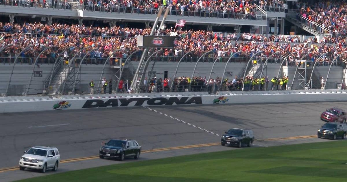 President Donald Trump takes a few laps around Daytona International Speedway | NASCAR on FOX (VIDEO)