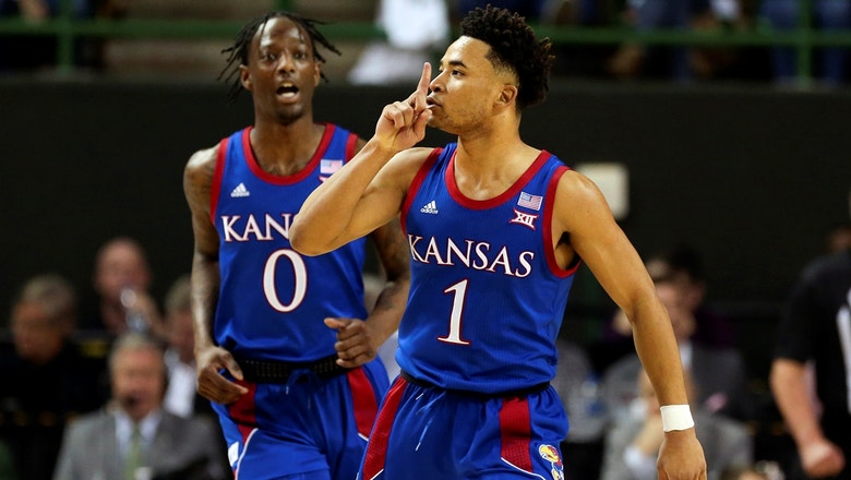 No. 3 Kansas ends No. 1 Baylor's 23-game streak with narrow 64-61 victory