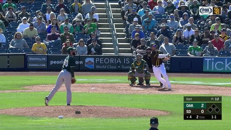 HIGHLIGHTS: Padres comeback to win against the  A's in ST