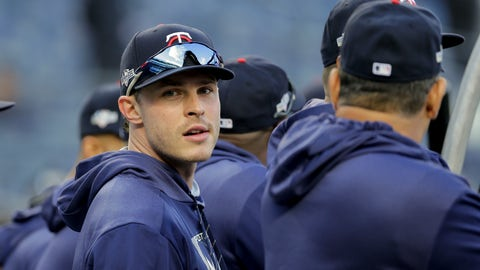 "<p>               FILE - In this Oct. 4, 2019, file photo, Minnesota Twins' Max Kepler waits to take batting practice before Game 1 of an American League Division Series baseball game against the New York Yankees in New York. Twins right fielder Max Kepler didn't get to watch a lot of major league baseball growing up in Germany. The games he did did see included many Boston Red Sox-New York Yankees matchups, which caused him to become a big fan of Derek Jeter. ""I loved watching Jeter, even though I'm a lefty and the complete opposite of what he was,"" Kepler said Tuesday, Feb. 18, 2020, before Minnesota's second full-squad workout. ""He was the guy I really looked up to."" (AP Photo/Seth Wenig, File)             </p>"