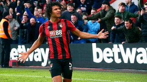 <p>               Bournemouth's Nathan Ake celebrates scoring his sides second goal during the English Premier League soccer match between AFC Bournemouth and Aston Villa, at the Vitality Stadium, Bournemouth, England, Saturday, Feb. 1, 2020. (Mark Kerton/PA via AP)             </p>