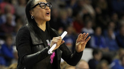 <p>               South Carolina head coach Dawn Staley directs her team during the second half of an NCAA college basketball game against Kentucky in Lexington, Ky., Sunday, Feb. 23, 2020. (AP Photo/James Crisp)             </p>