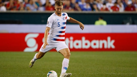 <p>               FILE - In this June 30, 2019, file photo, United States' Walker Zimmerman plays the ball during a CONCACAF Gold Cup soccer match against Curacao in Philadelphia. As Nashville SC embarks on its first Major League Soccer season, veteran defender Walker Zimmerman has been surprised by how quickly the team has coalesced. He knows a bit about expansion teams having been on LAFC's original roster. (AP Photo/Matt Slocum, File)             </p>