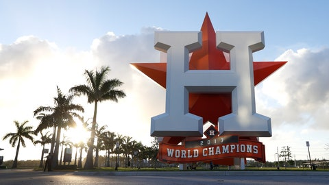 <p>               This Wednesday, Feb. 12, 2020 photo shows the outside of the Houston Astros spring training facility at the Fitteam Ballpark of The Palm Beaches in West Palm Beach, Fla. (Karen Warren/Houston Chronicle via AP)             </p>