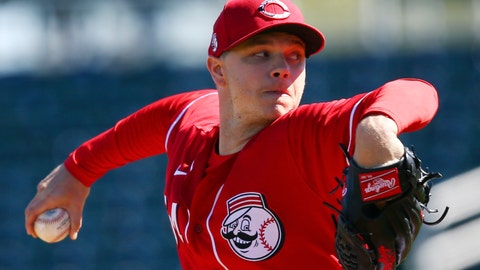 <p>               Cincinnati Reds starting pitcher Sonny Gray throws against the Seattle Mariners during the first inning of a spring training baseball game Wednesday, Feb. 26, 2020, in Goodyear, Ariz. (AP Photo/Ross D. Franklin)             </p>