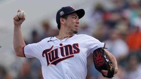 <p>               Minnesota Twins starting pitcher Kenta Maeda works in the first inning of a spring training baseball game against the Boston Red Sox Monday, Feb. 24, 2020, in Fort Myers, Fla. (AP Photo/John Bazemore)             </p>