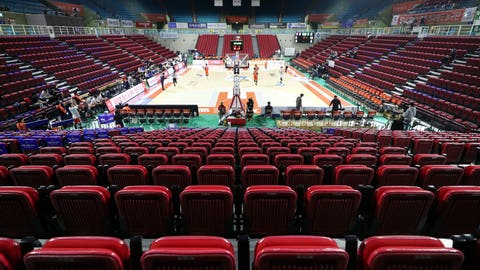<p>               Stadium seats are empty during the Korean Basketball League between Incheon Electroland Elephants and Anyang KGC clubs in Incheon, South Korea, Wednesday, Feb. 26, 2020. The basketball game held without spectators as a precaution against the COVID-19. (Yun Tai-hyun/Yonhap via AP)             </p>