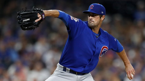 <p>               FILE - In this Sept. 11, 2019, file photo, Chicago Cubs pitcher Cole Hamels works against a San Diego Padres batter during the fourth inning of a baseball game in San Diego.  The Atlanta Braves need new veteran leadership for a rotation that has lost Julio Teheran and Dallas Keuchel. Left-hander Cole Hamels is eager to fill the void as pitchers and catchers report to spring training on Wednesday, Feb. 12, 2020. (AP Photo/Gregory Bull, File)             </p>