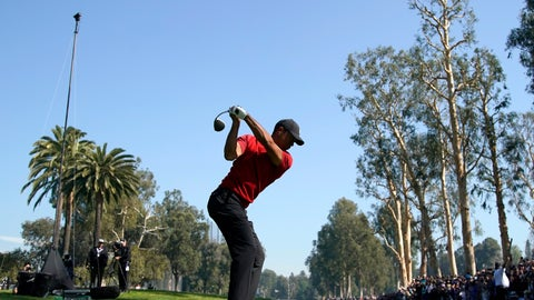 <p>               Tiger Woods tees off on the 12th hole during the final round of the Genesis Invitational golf tournament at Riviera Country Club, Sunday, Feb. 16, 2020, in the Pacific Palisades area of Los Angeles. (AP Photo/Ryan Kang)             </p>