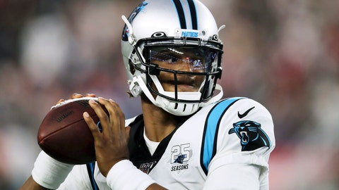 <p>               FILE - In this Aug. 22, 2019, file photo, Carolina Panthers quarterback Cam Newton warms up before an NFL preseason football game against the New England Patriots in Foxborough, Mass. While Newton remains optimistic about his chances of playing for the Panthers next season, the team is remaining mostly silent on the quarterback's future. (AP Photo/Charles Krupa, File)             </p>