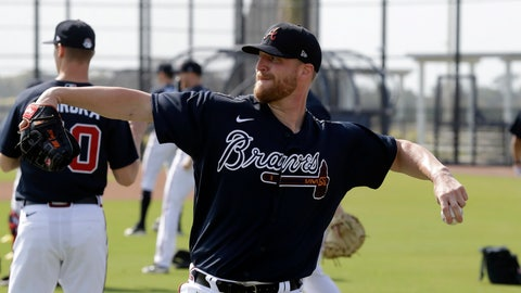 <p>               Newly acquired Atlanta Braves relief pitcher Will Smith throws during spring training baseball camp Thursday, Feb. 13, 2020, in North Port, Fla. (AP Photo/John Bazemore)             </p>