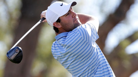 <p>               Scott Scheffler follows through on the third tee during the final round of The American Express golf tournament on the Stadium Course at PGA West in La Quinta, Calif., Sunday, Jan. 19, 2020. (AP Photo/Alex Gallardo)             </p>
