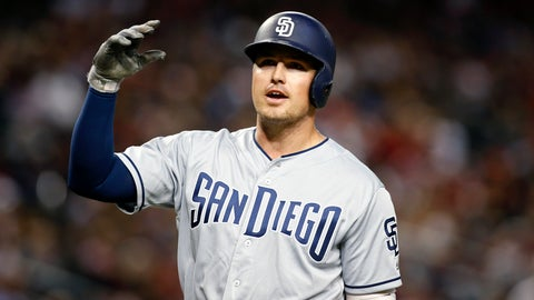 <p>               FILE - In this  Saturday, Sept. 28, 2019 file photo, San Diego Padres' Hunter Renfroe reacts after being called out on strikes against the Arizona Diamondbacks during the sixth inning of a baseball game in Phoenix. The Tampa Bay Rays are coming off a 96-win season and their first playoff appearance in six years. General manager Erik Neander went about improving the Rays this winter by addressing the need for right-handed hitting with a pair of trades that added Hunter Renfroe, Jose Martinez and Randy Arozarena. (AP Photo/Ralph Freso, File)             </p>