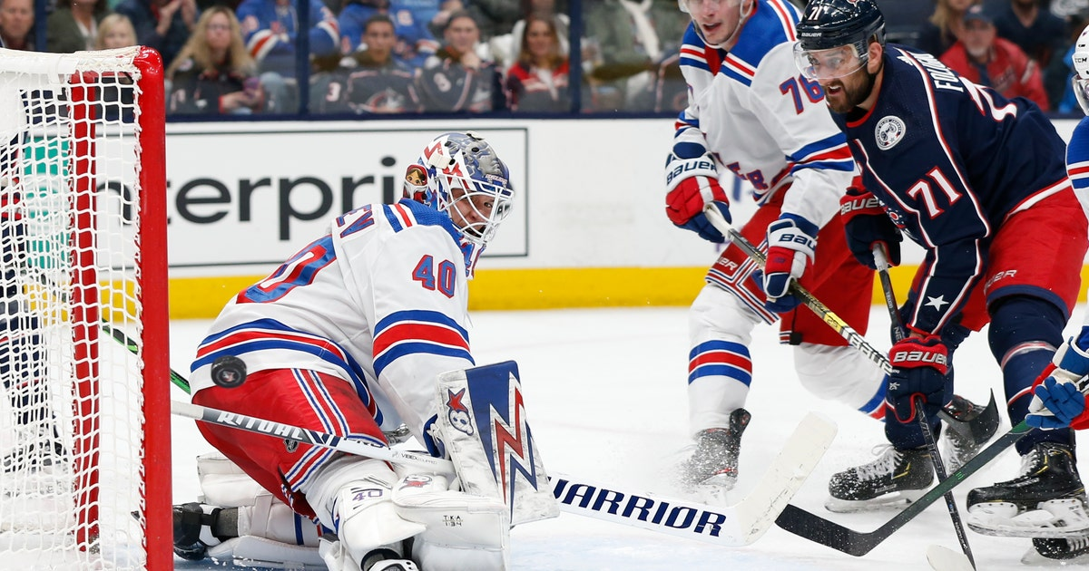 Georgiev logs 36 saves as Rangers beat Blue Jackets 3-1