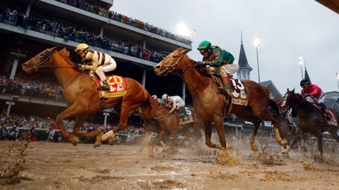 <p>               FILE - In this May 4, 2019, file photo, Flavien Prat rides Country House to victory during the 145th running of the Kentucky Derby horse race at Churchill Downs in Louisville, Ky. Luis Saez on Maximum Security finished first but was disqualified. Country House has been retired because of a foot ailment. The 4-year-old developed laminitis in his right front foot and was hospitalized last summer to treat the condition. (AP Photo/Matt Slocum, File)             </p>
