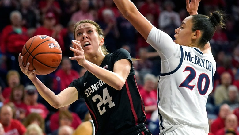 No. 13 Arizona beats No. 4 Stanford 73-72 in overtime