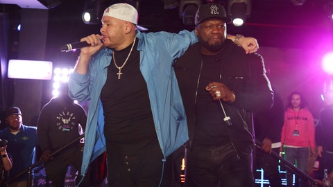 <p>               Fat Joe and 50 Cent perform at the Pepsi Super Splash Pool Party at Pepsi Neon Beach on Saturday, Feb. 1, 2020, in South Beach, FL. (Photo by Donald Traill/Invision/AP)             </p>