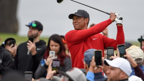 <p>               FILE - In Jan. 26, 2020, file photo, Tiger Woods watches his tee shot on the second hole of the South Course at Torrey Pines Golf Course during the final round of the Farmers Insurance golf tournament Sunday,, in San Diego. Riviera is where Tiger Woods played his first PGA Tour event as an amateur. It would be the ideal place to set the tour record for most wins. (AP Photo/Denis Poroy, File)             </p>