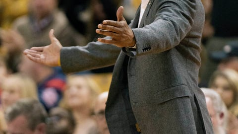 <p>               Missouri head coach Cuonzo Martin looks for a call during the second half of an NCAA college basketball game against Mississippi Tuesday, Feb. 18, 2020, in Columbia, Mo. Missouri won 71-68.(AP Photo/L.G. Patterson)             </p>