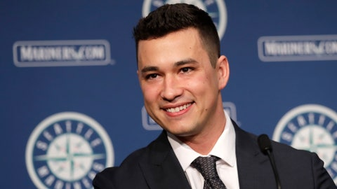 <p>               Seattle Mariners pitcher Marco Gonzales smiles during a baseball news conference Tuesday, Feb. 4, 2020, in Seattle. Gonzales and the Mariners agreed to a $30 million contract covering 2021-24, a deal that includes a club option and could be worth $45 million over five seasons. Gonzales is coming off the best season of his career. (AP Photo/Elaine Thompson)             </p>